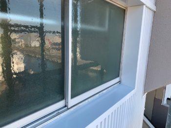 徳島県 窓枠 ガルバリウム鋼板 外壁工事 マンション
