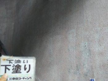 徳島県 徳島市 階段室 塗装 下塗り