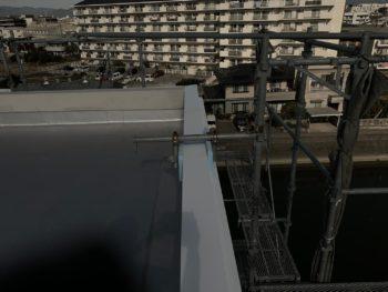 屋上 外壁工事 ガルバリウム鋼板 徳島県 マンション