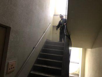 徳島県 徳島市 階段 洗浄