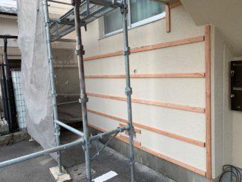 徳島県 外壁工事 胴縁 ガルバリウム鋼板 マンション