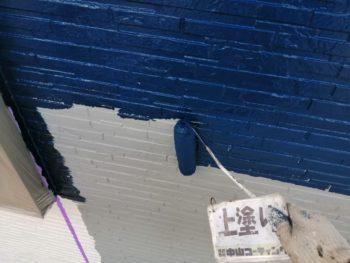 徳島 上八万 外壁 塗装 上塗り