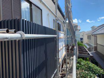 手すり壁 板金工事 ガルバリウム鋼板 徳島県