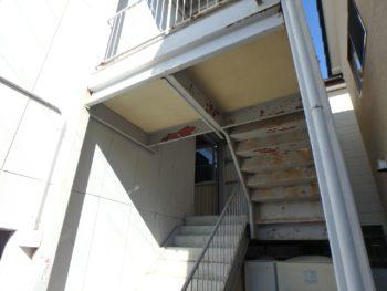 施工前 マンション 階段室 徳島県 八万町