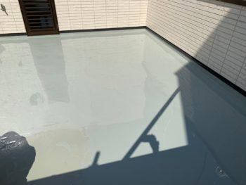 バルコニー 防水 バルコニー 防水 トップコート 塗装後  徳島県徳島県