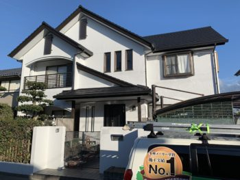 徳島市国府町の外壁塗装 屋根塗装 台風被害施工例