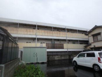 施工前 マンション 裏面 徳島県 八万町