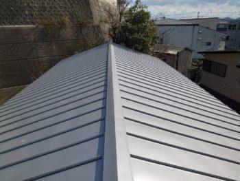 施工後 屋根 ガルバリウム鋼板 徳島県 八万町