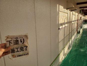 外壁 塗装後 下塗り 通路 徳島