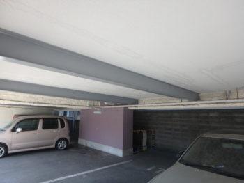 施工後 天井 駐車場 徳島県 八万