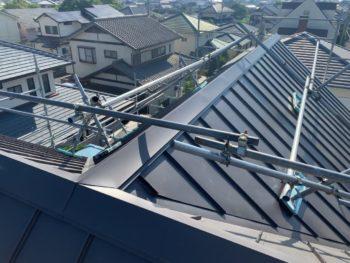 施工後 屋根 ガルバリウム鋼板徳島県 石井町