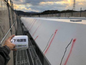 施工後 外壁 クラック 補修 徳島県