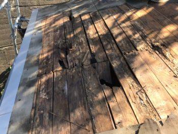 屋根 板金 野地板 穴 徳島県