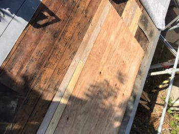 屋根 板金 野地板 張り替え後 徳島県