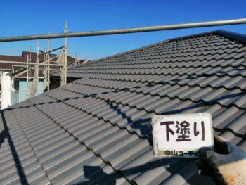 屋根 塗装後 下塗り 徳島県