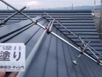 屋根 塗装後 下塗り 徳島県 国府町