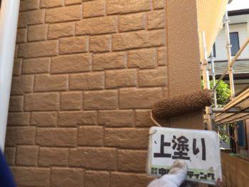 外壁 塗装 上塗り 徳島 石井