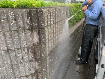 洗浄 塀 徳島県 石井町