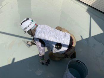 バルコニー 防水 トップコート 塗装 徳島県