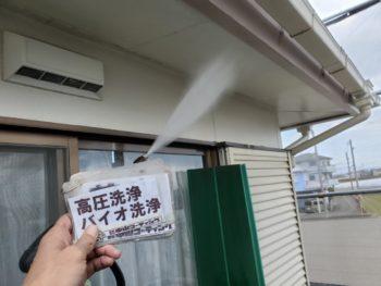 徳島県 藍住町 洗浄 付帯部 軒天井