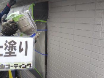 徳島県 南沖洲町 外壁 塗装 上塗り 2階