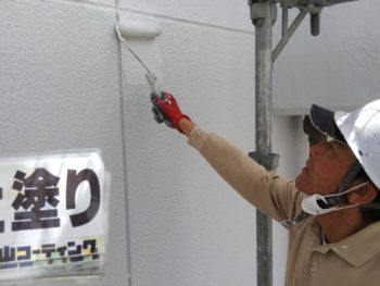 徳島県 南昭和町 外壁塗装 上塗り