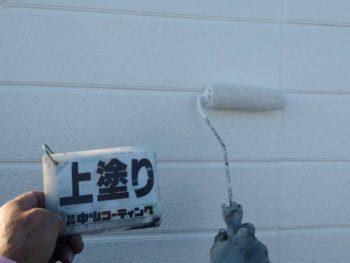 徳島県 北沖洲 外壁塗装 上塗り