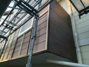 徳島県 板野町 大工工事 手すり壁 エバーアートボード