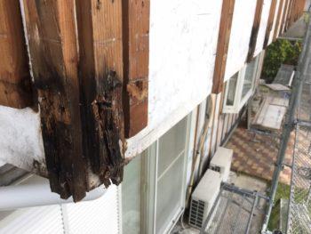 徳島県 上板町 板金工事 手すり壁 木部 劣化