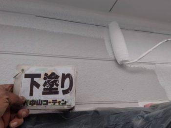 徳島県 北沖洲 外壁塗装 下塗り