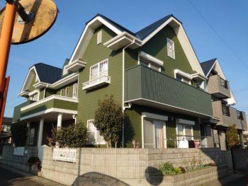 【艶消し モスグリーン色で外壁塗装】理想的な色合いに 鳴門市大麻町S様