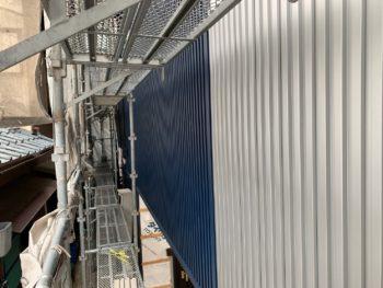徳島県 末広町 外壁 板金工事 手すり壁 ガルバリウム鋼板