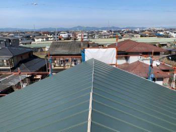 徳島県 名東町 屋根 ガルバリウム鋼板 板金工事