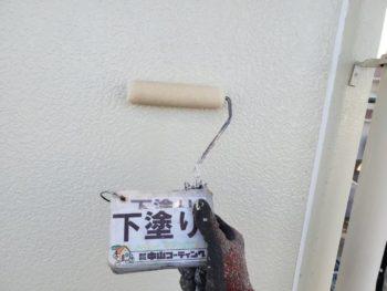 徳島県 藍住町 外壁塗装 下塗り