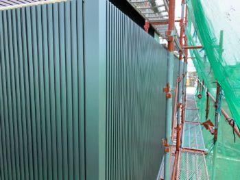 徳島 藍住 外壁 板金工事 手すり壁