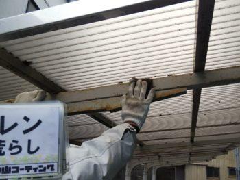 徳島県 南昭和町 下地処理 駐輪場 ケレン