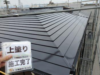 徳島県 末広町 屋根 塗装後 上塗り