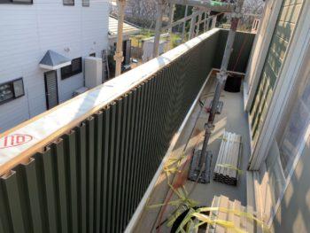 徳島県 大麻町 板金工事 施工後 手すり壁