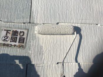 徳島県 屋根 塗装 下塗り 2回目
