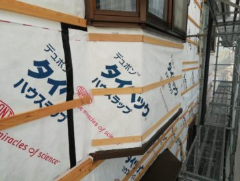 徳島県 末広町 外壁 板金工事 出窓 防水シート