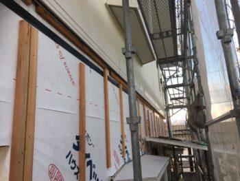 徳島県 上板町 板金工事 壁面 胴縁 取付け