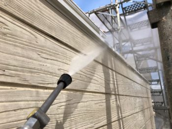 徳島県 松茂町 高圧洗浄 手すり壁