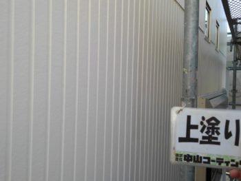 徳島県 新浜本町 外壁塗装後 上塗り