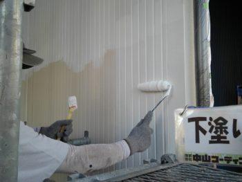 徳島県 新浜本町 外壁塗装 下塗り