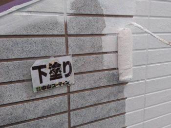 徳島県 北沖洲 外壁塗装 サイディング 下塗り