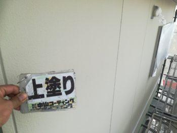 徳島県 北島町 外壁 塗装後 上塗り