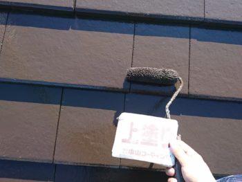 徳島県 中林町 屋根 塗装 上塗り