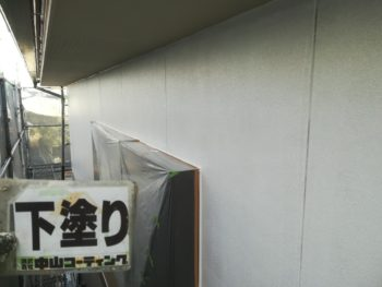 徳島県 北島町 外壁 塗装後 下塗り