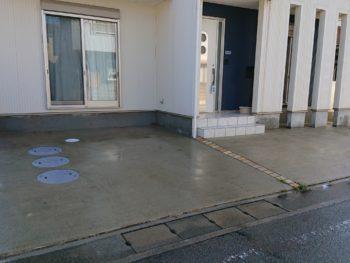 徳島県 新浜本町 高圧洗浄 土間 汚れ