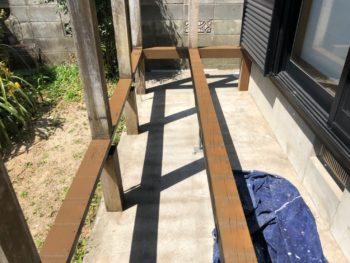 徳島県 北島町 大工工事 土台 縁側
